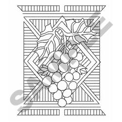 GRAPES LINEWORK embroidery design