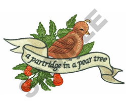 A PARTRIDGE AND A PEAR TREE embroidery design