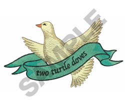 TWO TURTLE DOVES embroidery design