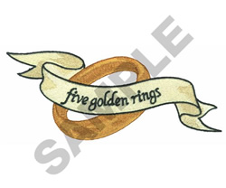 FIVE GOLDEN RINGS embroidery design