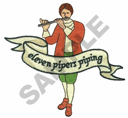 ELEVEN PIPERS PIPING embroidery design