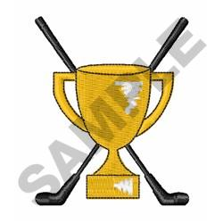 Golf Trophy Cup embroidery design