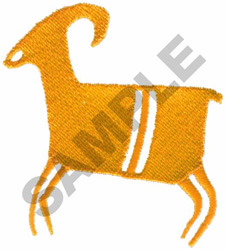 PRIMITIVE RAM DRAWING embroidery design
