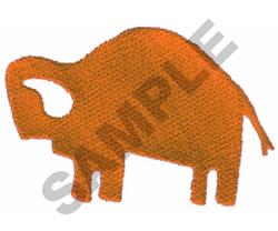 PRIMITIVE BUFFALO DRAWING embroidery design