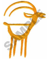 PRIMITIVE GAZEL DRAWING embroidery design