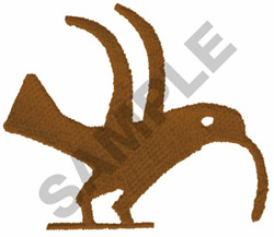 PRIMITIVE BIRD DRAWING embroidery design