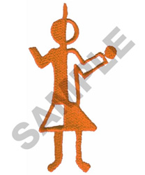 PRIMITIVE HUMAN DRAWING embroidery design