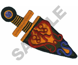 AFRICAN KNIFE embroidery design