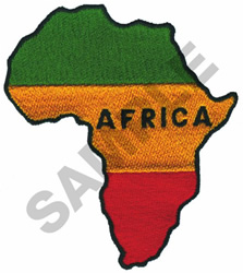THE COUNTRY OF AFRICA embroidery design