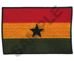 AFRICAN FLAG embroidery design