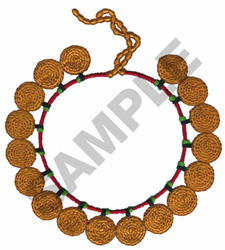 AFRICAN NECKLACE embroidery design