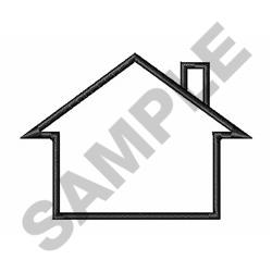 House Outline embroidery design