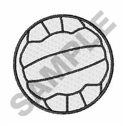Netball Outline embroidery design