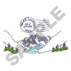 Travel Colorado embroidery design