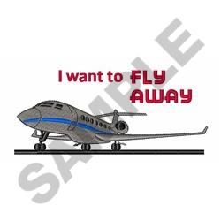 Want To Fly Away embroidery design