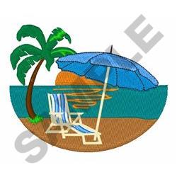 Beach No Sky embroidery design