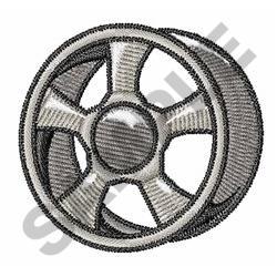 Wheel Rim embroidery design