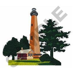 Currituck Beach Lighthouse embroidery design