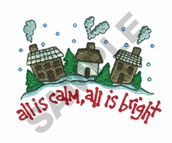 SILENT NIGHT embroidery design