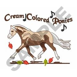 cream colored ponies embroidery designs machine embroidery designs at. Black Bedroom Furniture Sets. Home Design Ideas