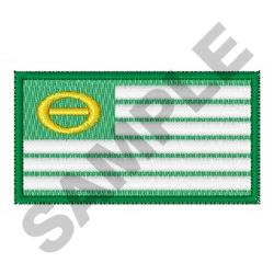 Ecology Flag embroidery design