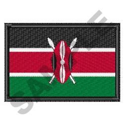 Flag Of Kenya embroidery design