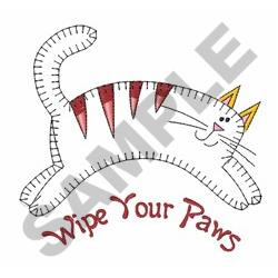 Wipe Your Paws Applique embroidery design