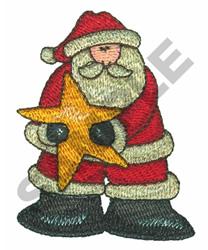 SANTA & STAR embroidery design