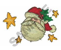 SANTA & STARS embroidery design