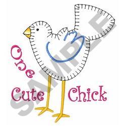Cute Chick Applique embroidery design