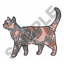 Tortoiseshell Cat embroidery design