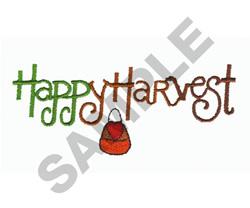 HAPPY HARVEST embroidery design
