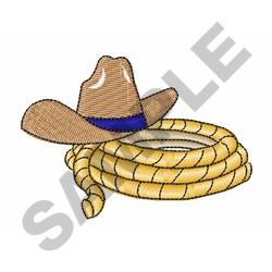 Cowboy Hat And Rope embroidery design