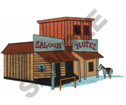 SALOON HOTEL embroidery design