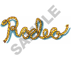 RODEO ROPE LETTERS embroidery design