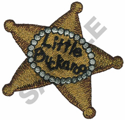 LITTLE BUCKAROO BADGE embroidery design