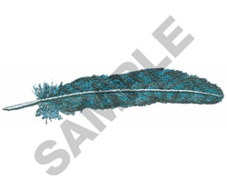BLUE JAY FEATHER embroidery design