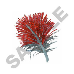 RED LORY FEATHER embroidery design