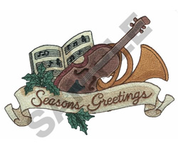 SEASONS GREETING embroidery design