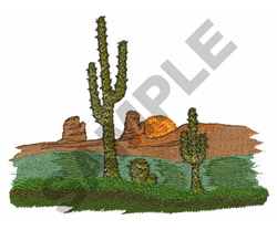 CACTUS IN THE DESERT embroidery design