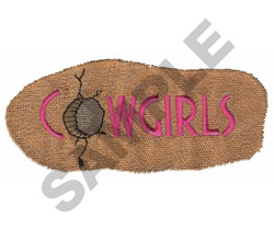 COWGIRLS embroidery design