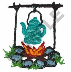 FIRE WITH KETTLE embroidery design