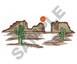DESERT embroidery design