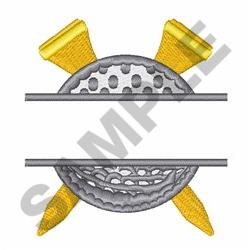 Golf Namedrop embroidery design
