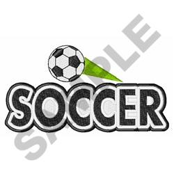 Soccer Swoosh embroidery design