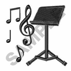 Music Stand embroidery design