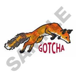 Gotcha Fox embroidery design