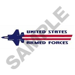 US Armed Forces embroidery design