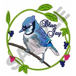 Blue Jay embroidery design
