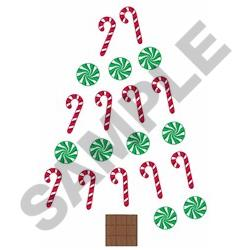 Candy Christmas Tree embroidery design